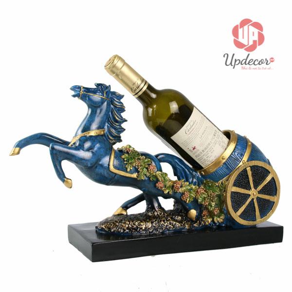 Giá Để Rượu Vang Đẹp Hình Ngựa Phong Thủy