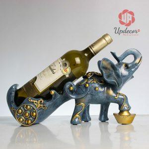 Giá Để Rượu Vang Đẹp Hình Voi Phong Thủy