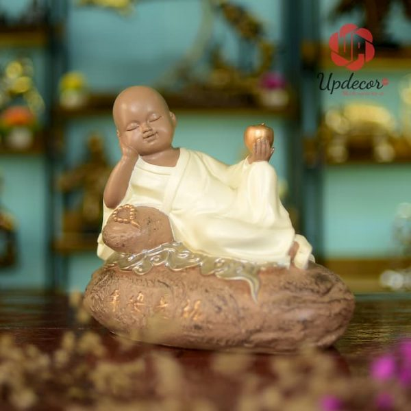 Tượng Phật Chú Tiểu An Nhiên Trang Trí Nội Thất, Để Bàn Làm Việc