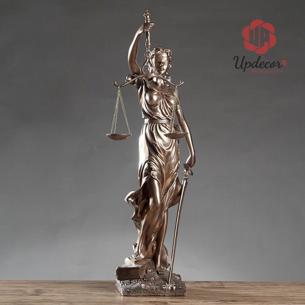 Tượng Nữ Thần Công Lý Trang Trí Văn Phòng, Decor Nhà Cửa, Quà Tặng Luật Sư
