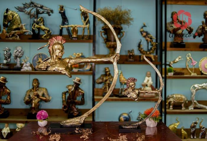 Tượng Thổ Dân Bắn Cung Trang Trí, Decor Nhà Cửa