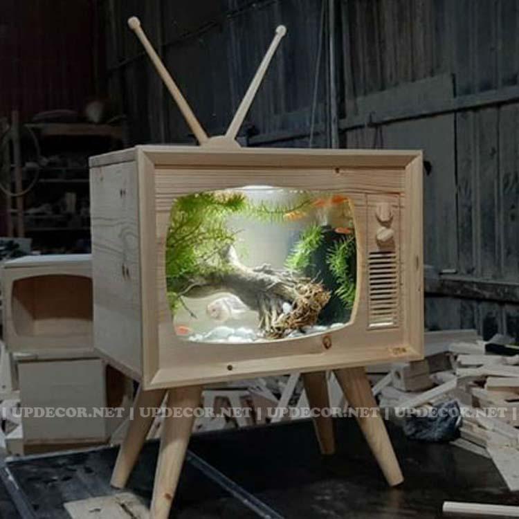 Bể cá mô hình tivi là một sản phẩm được các bé cực kỳ thích thú khi ngắm