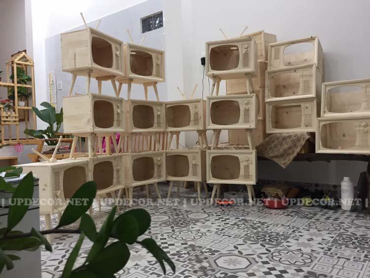 Updecor cung cấp rất nhiều mô hình tivi gỗ độc đáo và ấn tượng