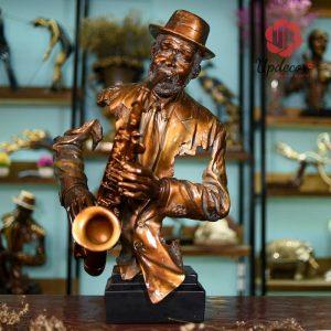 Tượng Nghệ Sĩ Thổi Saxophone Trang Trí Nhà Cửa, Decor Nội Thất