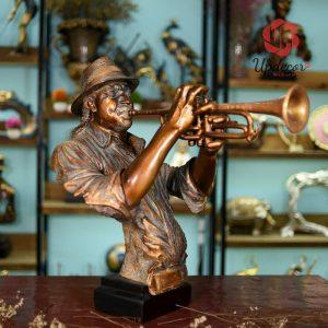 Tượng Nghệ Sĩ Thổi Trumpet Trang Trí Nhà Cửa, Nội Thất
