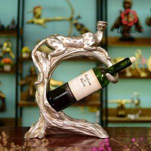 Giá Để Rượu Vang Con Báo Đẹp Trang Trí Bàn Tiệc, Decor Nội Thất
