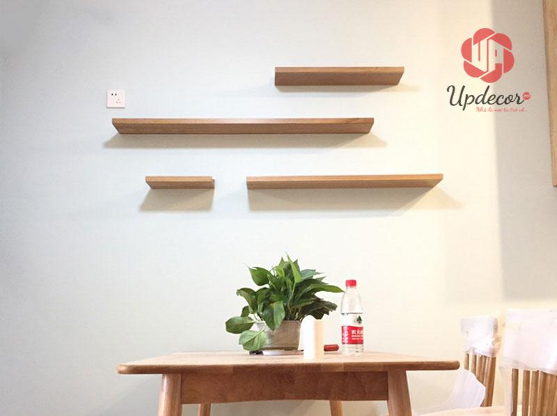Tự làm kệ sách gỗ treo tường