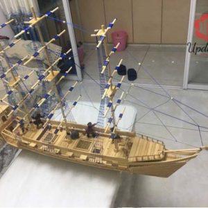 hướng dẫn làm mô hình thuyền buồm bằng tăm tre