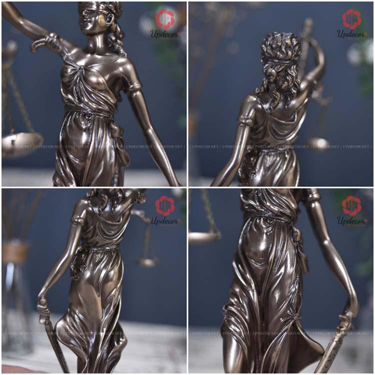 Các chi tiết khác của bức tượng nữ thần cao 31 Cm