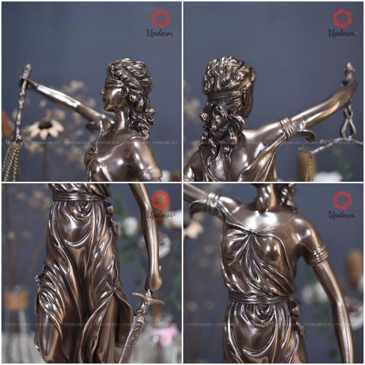 Những đường nét chi tiết rất tinh xảo của bức tượng