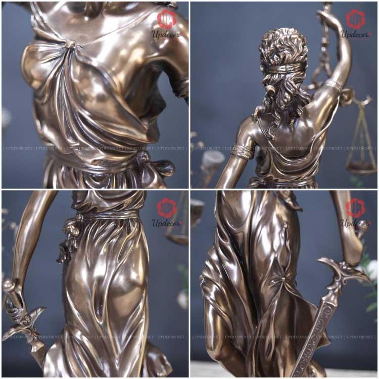 Những hình ảnh chi tiết khác của bức tượng nữ thần công lý cao 72 cm
