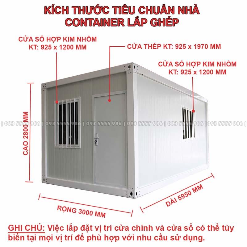 Hình Ảnh Kích Thước Tiêu Chuẩn Của Một Nhà Container Lắp Ghép Theo Công Nghệ Tiên Tiến Nhất Hiện Nay