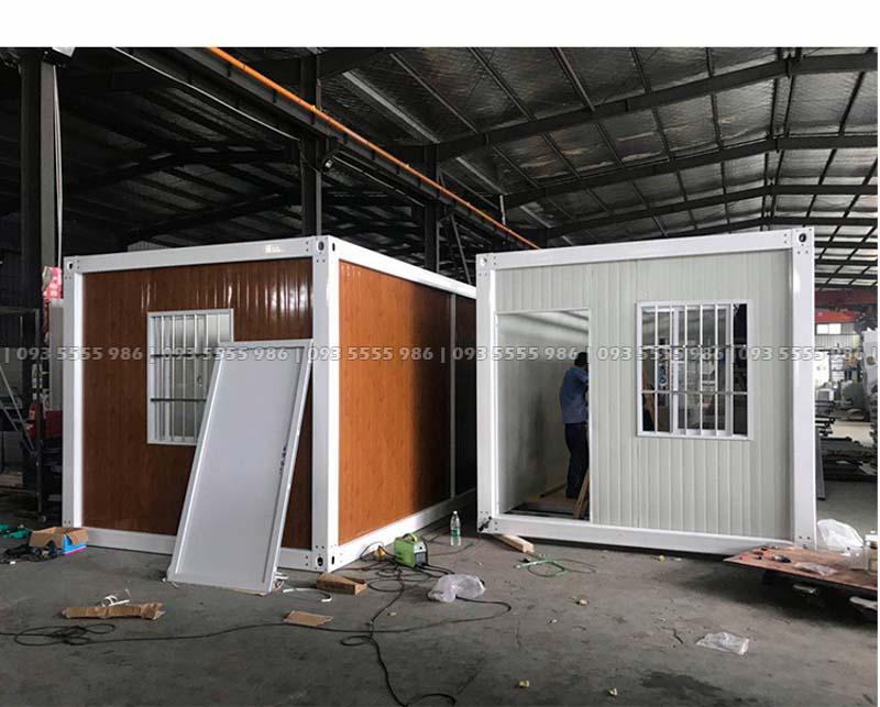 Phiên bản mẫu nhà container tiêu chuẩn của Updecor cung cấp có kích thước 3 x 6 x 2,8 mét